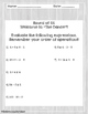 Order of Operations Printables