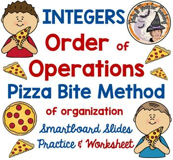 FREE Order of Operations Pizza Bite Method for Organization
