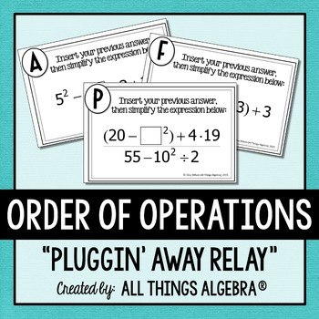 Order of Operations Relay Activity