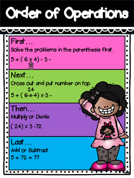 Order of Operations Poster FREEBIE