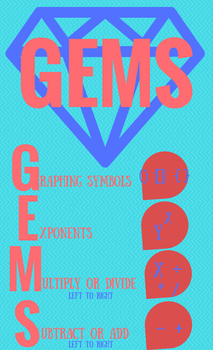 Order of Operations Poster GEMS - FREEBIE