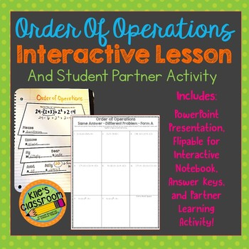 Order of Operations  - PowerPoint, Interactive Notebook, a