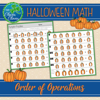 Order of Operations - Pumpkin Puzzle - 5.OA.A.1