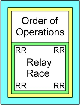 Order of Operations - RELAY RACE Game (7 rounds of 9 problems)