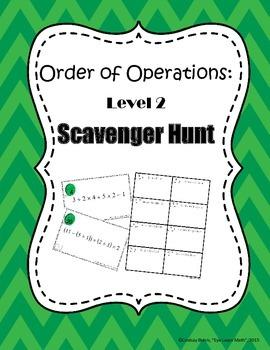 Order of Operations Scavenger Hunt Level 2