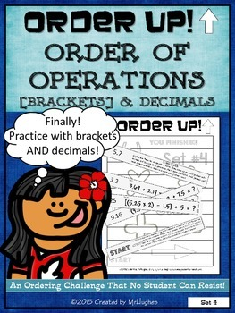 Order of Operations Set 4 [with Brackets] and Decimals - O