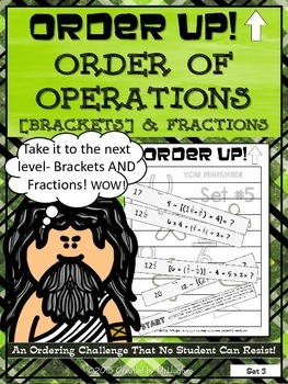 Order of Operations Set 5 [with Brackets] and Fractions -