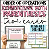 Order of Operations Task Cards { Common Core 5.OA.1 } BRAC