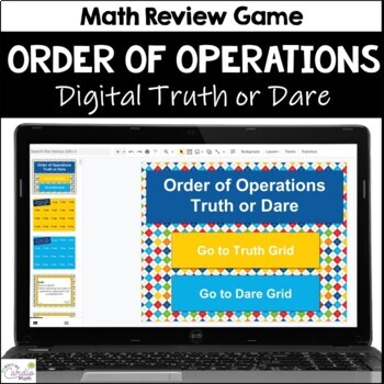 Order of Operations Truth or Dare for Google Classroom