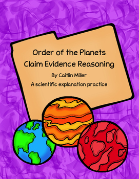 Order of the Planets Claim Evidence Reasoning