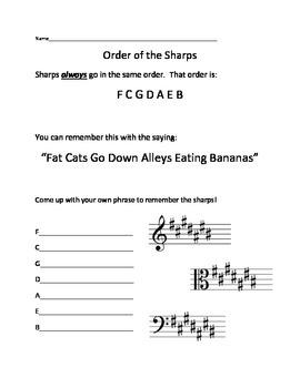 Order of the Sharps Worksheet