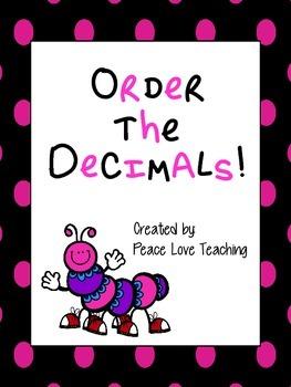 Decimals - Ordering