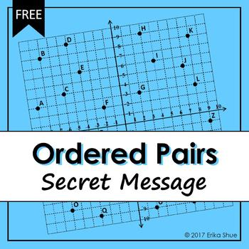 Ordered Pairs Secret Message