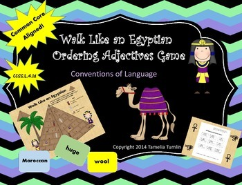 Ordering Adjectives (Walk Like an Egyptian Conventions of