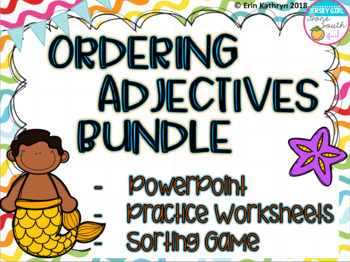 Ordering Adjectives PowerPoint, Sorting Game, and Practice