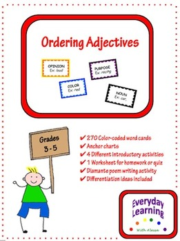 Ordering Adjectives and Descriptive Language