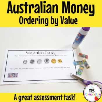 Ordering Australian Money {Cut and Paste}