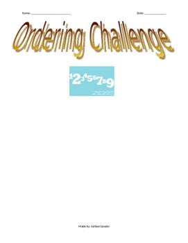 Ordering Challenge