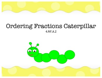 Ordering Fractions Caterpillar