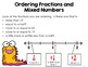 Ordering Fractions & Mixed Numbers on a Number Line BUNDLE