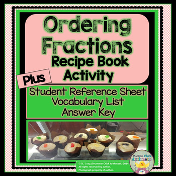 Ordering Fractions: Recipe Book Activity and Student Refer