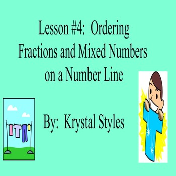 Ordering Fractions and Mixed Numbers on a Number Line - Le