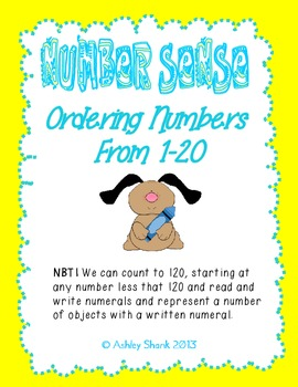 Ordering Numbers 1-20: A Common Core Math Center