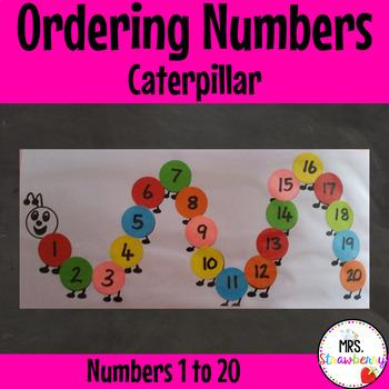 Ordering Numbers 1-20 Caterpillar