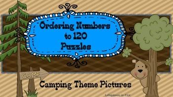 Ordering Numbers Camping Themed Puzzles