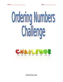 Ordering Numbers Challenge