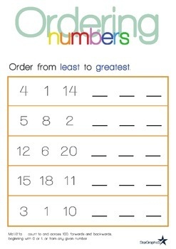 Ordering Numbers - Least to Greatest