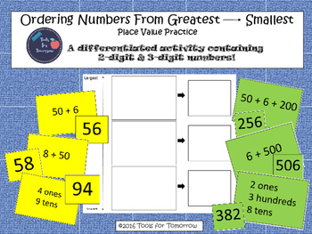Ordering Numbers-Place Value Practice