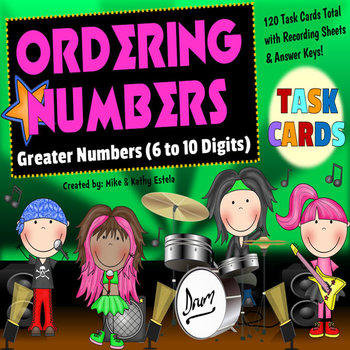 Ordering Numbers Task Cards {Order Greater Numbers - 6 to