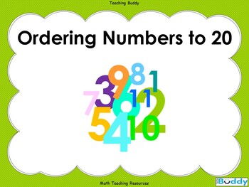 Ordering Numbers to 20