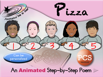Ordering Pizza - Animated Step-by-Step Poem PCS