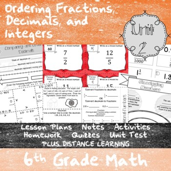 Ordering Rational Numbers - (6th Grade Math TEKS 6.2A, 6.2