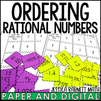 Ordering Rational Numbers Cut and Paste Activity