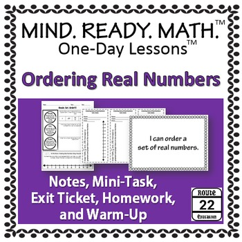 Ordering Real Numbers Notes