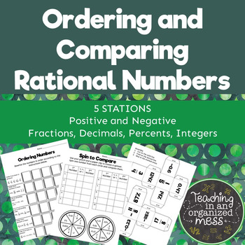 Ordering and Comparing Rational Numbers Middle School Math