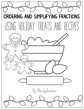 Ordering and Simplifying Fractions Holiday Edition