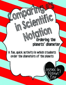 Ordering in Scientific Notation: The Planets'