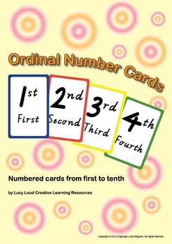 Ordinal Number Cards
