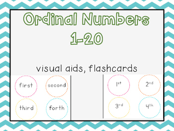 Ordinal Numbers 1-20 {Freebie}