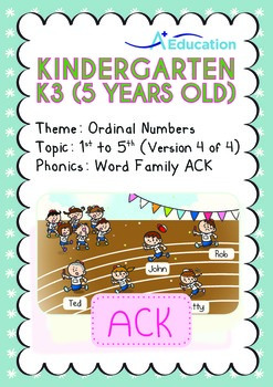 Ordinal Numbers - 1st to 5th (IV): Word Family ACK - K3 (5