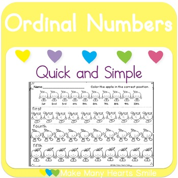 Easy 10: Ordinal Numbers with Apples
