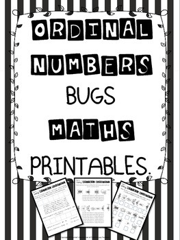 Ordinal Numbers Bugs Maths Printables