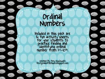 Ordinal  Numbers Bundle Pack