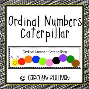 Ordinal Numbers Caterpillar