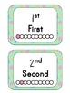 Ordinal Numbers Flash Cards - Spring Theme