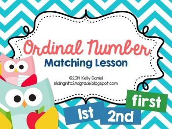 Ordinal Numbers Match Lesson!